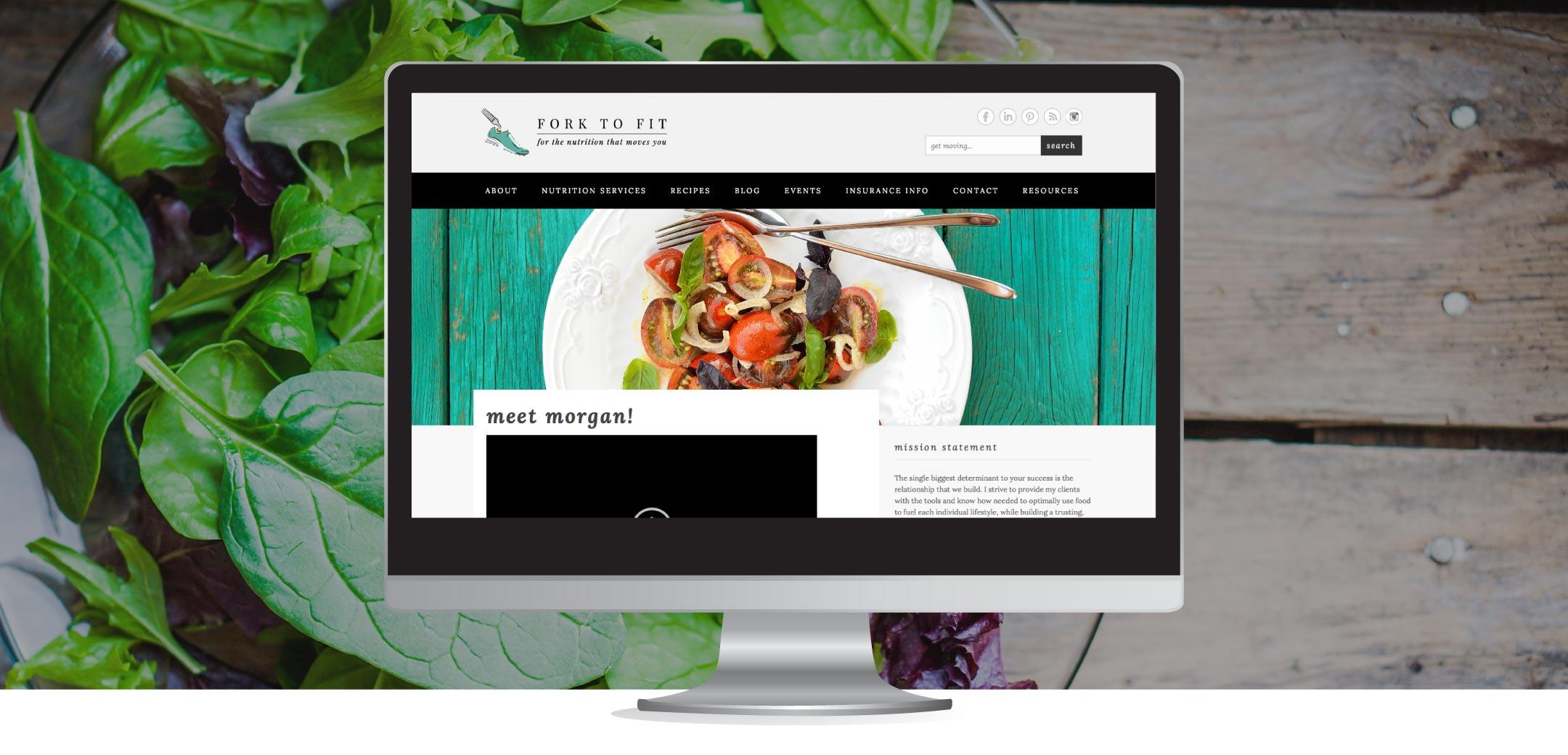 Fork to Fit Website Design Refresh