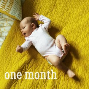 One monthish! This belated picture captures her well  ourhellip
